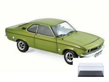 DIECAST CAR & DISPLAY CASE 1975 OPEL MANTA LEMON METALLIC NOREV 183635 1/18