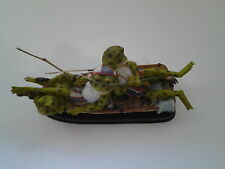 Resin Frogs Fishing in a Boat on a Base