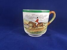 """Spode Herring Hunt The Hunt (Green Scalloped)- Cup 2 3/4"""" (Taking the Lead)"""