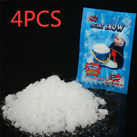 4 packs Fake Magic Instant Snow For Sensory Play Frozen Wedding Xmas Decor UK