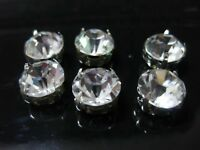 Craft Silver Clear Crystal Glass Rose Montees Sew on Rhinestones Beads 3mm-10mm