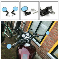 "UNIVERSAL 7/8"" Foldable Motorcycle CNC Bar End 3"" Round Mirrors Rear View Side B"
