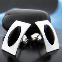 Onyx Silber 925 Ohrringe Damen Schmuck Sterlingsilber S0114