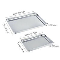 2Pcs Baking Sheet Stainless Steel Baking Pans for Toaster Oven Cookie Baking