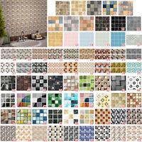 Kitchen Tile Stickers Bathroom Mosaic Sticker Self-adhesive Home Wall Decor