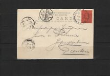 China - Incoming Mail, 1903, picture postcard from Singapore to Tientsin