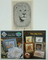 Lot of CROSS STITCH Pattern Books of WILD ANIMALS Timber Wolf BIG CATS