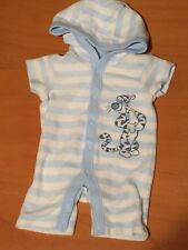 Disney George Tigger Blue White Striped Hooded All In One Outfit First Size B21