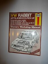 Haynes VW Rabbit, Jetta, Scirocco and Pick-up Owners Workshop Manual, No. 884...