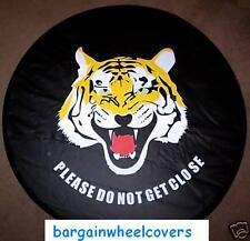 Animal Tiger CUBIERTA DE RUEDA TRASERA de Repuesto Neumático Wheelcover Suave 4x4 Van Caravana caber todos los