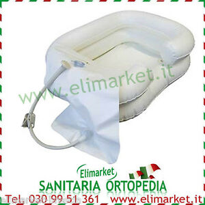 Lavatesta vaschetta gonfiabile e doccetta lavaggio a letto capelli allettati