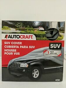 "AutoCraft Easy Fit SUV Cover, Fits SUVs 14' - 15'6"" (Grey) - NEW AC58"