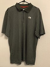 THE NORTH FACE Charcoal/White Stripe Short Sleeve Quarter Zip Shirt Mens XL