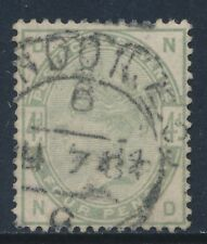 1884 GB QV 4d DULL GREEN USED SG192 LETTERS 'ND'
