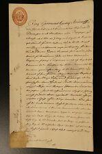 Nobility Germund Gustaf Aminoff 1823-1908 Handwritten Deed Signed Dated Monogram