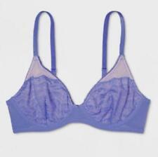 Xhilaration Unlined Lace T-shirt Bra Violet Storm 32b