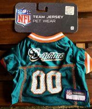 Miami Dolphins Pet Wear T-Shirt Dog Size XS Tee Shirt NFL Football Jersy New!