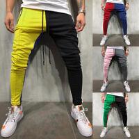 Fashion Men's Slim Fit Casual Loose Patchwork Sweatpant Trousers Jogger Pants