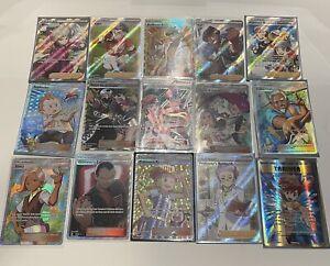 Lot of 15 rare full art holo pokemon tcg trainer cards