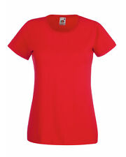 Fruit of The Loom Lady-fit Valueweight T-shirt Red Wholesale 61372 2xl