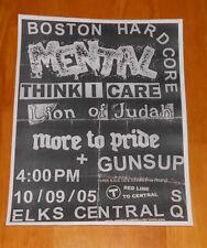 Punk Flyer Poster Boston Hardcore Mental Original 8.5x11 Think I Care