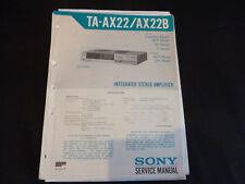 Original Service Manual Sony TA-AX22 AX22B