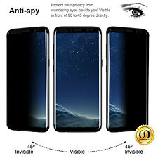 For Galaxy S7 Edge S8 Plus Privacy Screen protector 3D Glass Anti-Spy lot