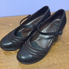 Dansko BECKY NAPPA  Brown Leather Mary Janes Pumps Shoes Women U.S 10.5 EU 41