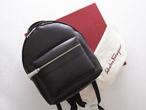 Salvatore Ferragamo black leather bag backpack, authentic, NWT