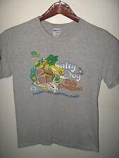 Salty Dog Kids Duathlon Race Run 2011 Melbourne Florida USA Grunge T Shirt Small