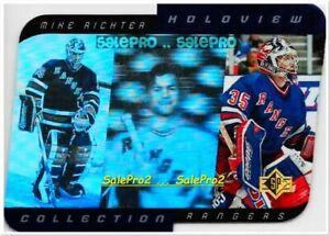 UD SP 1996 MIKE RICHTER NHL NEW YORK RANGERS GOALIE RARE MINT HOLOVIEW #HC27