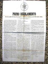 K500-SICILIA-RIVOLUZIONE 1848/49-MANIFESTO VENDITA BENI NAZIONALI