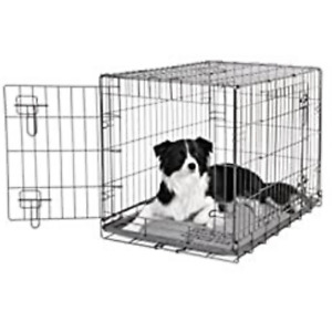 Pet Cage Strong Metal Travel Crate Dog Cat Puppy 2 Door Small Medium Large