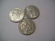 New Listing 3- Franc French Coins 1945 -1947- 1949 France 5 Franc Coins