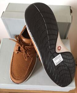 """Clarks Men's Unstructured Shoes """"Un Pilot Lace""""Tan Nubuck UK Size 10/44.5"""