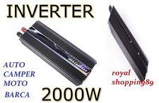 TRASFORMATORE 2000W WATT 12V 220V INVERTER AUTO BARCA CAMPER PRESA USB CAMPEGGIO