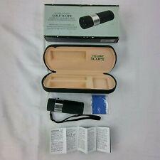 The Golf Scope Golf Rangefinder Black **Spec on Lens** 8x Mag 100 Yards Case B25