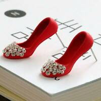 UK Crystal Rhinestone Red High Heel Shoes Earrings Women Jewelry Gift