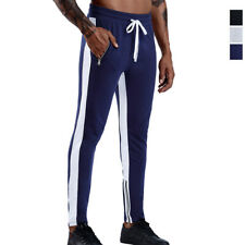 Mens Active Pants Athleisure Bottoms Running Trousers Hiphop Jogger Zipper Ankle