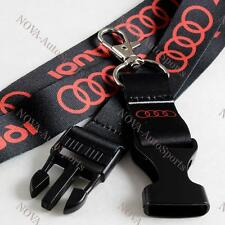 For Audi QUATTRO TDI RS5 RS7 R8 A4 Lanyard Neck Keychain Quick Release Key Chain