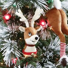 "RAZ Imports~13"" Christmas Deer Head/Face~Reindeer Tree/Wreath Pick/Stake Decor"