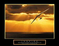 Hang Gliding INSPIRE Beautiful Motivational Inspirational Poster Print
