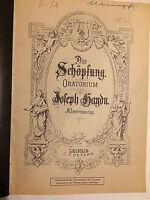 Haydn : Die Schöpfung - Klavierauszug mit Text in Deutsch und Englisch