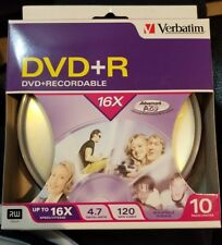Verbatim AZO DVD+R 4.7GB 16X with Branded Surface - 10 Pack Spindle Box