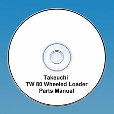 Takeuchi  TW80 / TW 80 Wheeled loader Parts Manual
