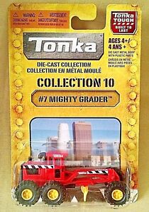TONKA MIGHTY GRADER NEW DIE CAST PLASTIC #7 COLLECTION 10 #15130 2009 MAISTO.