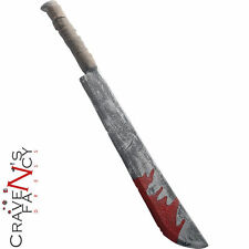 Blood Halloween Chopper Knife Deluxe 74cm Fancy Dress Costume Accessory Machette