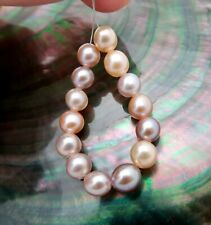 """14 AAA FRESHWATER RARE COLORFUL CULTURED PETITE EDISON PEARLS 3.40"""" HIGH LUSTER"""
