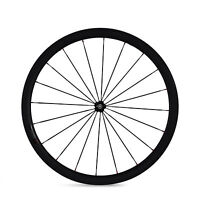 700C 23mm Width Road Bicycle Single Wheel 38mm Clincher Tubular Carbon Wheel