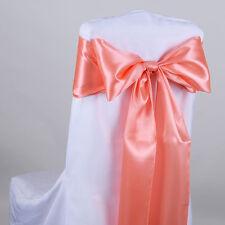 "TulleShop 10 Pcs Satin Chair Sash Bow 6 "" x 106"" Inch Weddings Decoration Party"
